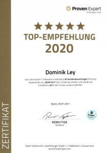 Ausgezeichnet als Top Empfehlung 2020