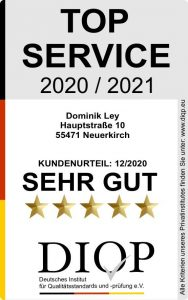 "Dominik Ley aus Neuerkirch erhält Zertifizierung ""Top Service"""